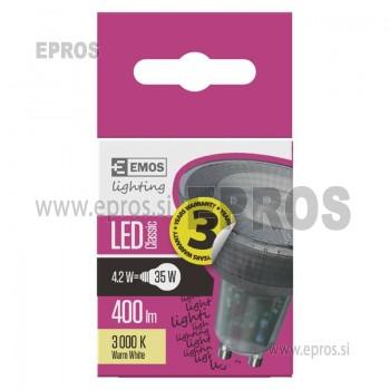 LED žarnica classic MR16 4,2W GU10 WW