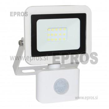 Reflektor LED 10W s senzorjem COMMEL beli