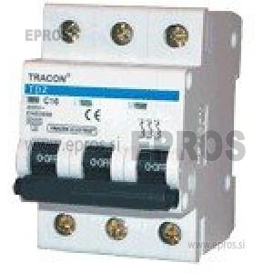 Instalacijski odklopnik - avtomatska varovalka TRACON  TDZ-3C-10 10A 3P
