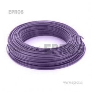 Trda žica HO7V-U 1.5mm, vijolična