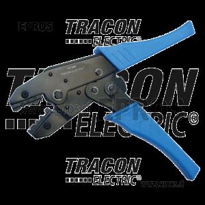 Klešče za stiskanje neizoliranih kabelskih čevljev HD156R TRACON ELECTRIC