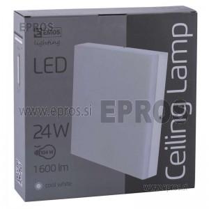 SVETILKA LED EMOS 24W Ceiling KVADRAT CW IP44