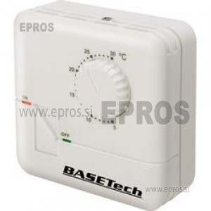 Sobni termostat, dnevni program od 5 do 30 °C Basetech MH-555C
