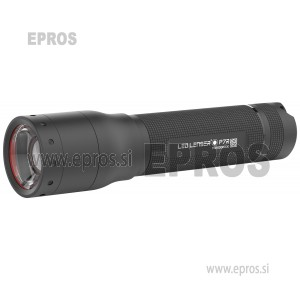 Svetilka LED Lenser P7R akumulatorsko napajanje 1000 lm 210 g črne barve