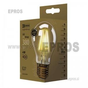 ŽARNICA LED A60 VINTAGE 4W E-27 EMOS