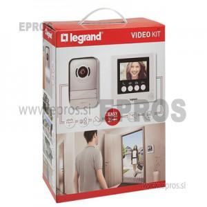 Video domofon Legrand 369110 z barvno kamero in notranja prostoročna video enota z 10,9 cm barvnim