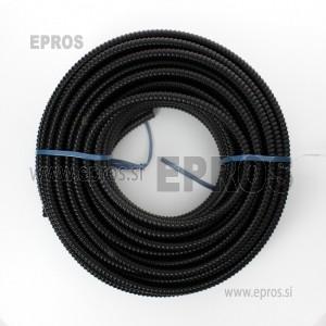Cev črna TEAFLEX 36 UV odporna