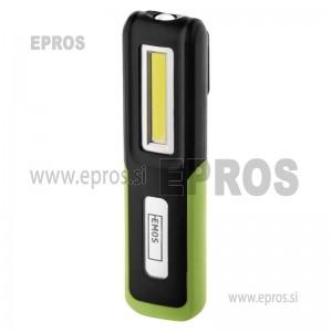 Polnilna LED delovna svetilka 3 W COB+3 W CREE, 360 lm,1400