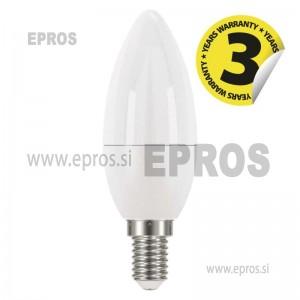 LED žarnica classic candle 6W E14 NW