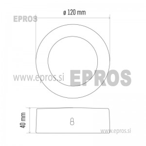 LED panel nadometni okrogel 6W NW