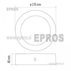 LED panel nadometni okrogel 12W NW