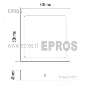 LED panel nadometni kvadratni 24W WW