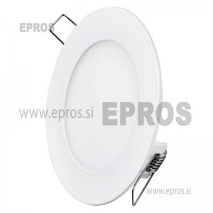 LED panel okrogel 6W WW EMOS