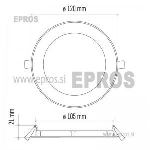 LED panel okrogel 6W NW EMOS