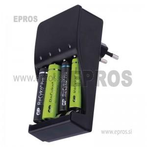 Polnilec baterijskih vložkov SMART4