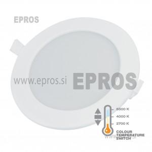 Vgradni LED panel 12W okrogli COMMEL 2700-6500K 170mm
