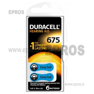 Baterije za slušne aparate Duracell 675