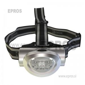 Naglavna LED svetilka 8 LED 3xAAA EMOS