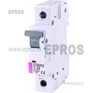 Instalacijski odklopnik - avtomatska varovalka ETI  ETIMAT 6 1p C32