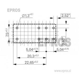 Rele RT z 2.menjalnima kontaktoma, 2x8A, 24VDC, 5 mm