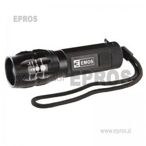 Ročna LED svetilka 3W 3AAA FL73086 s fokusom EMOS