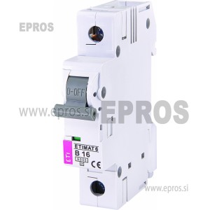 Instalacijski odklopnik - avtomatska varovalka ETI  ETIMAT 6 1p B16