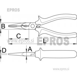 Klešče električarske, multifunkcionalne - 514/1BI 160 mm UNIOR