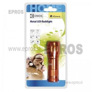 Ročna LED svetilka 9LED 3xAAA ST7303 oranžna EMOS