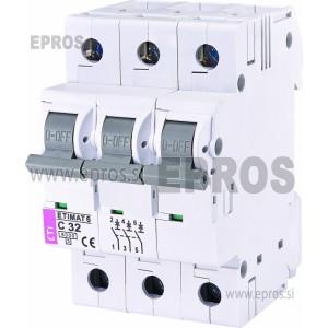 Instalacijski odklopnik - avtomatska varovalka ETI  ETIMAT 6 3p C 32