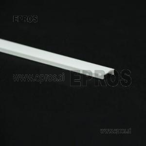 Pokrov - difuzor za aluminijast led profil prozorni (CENA ZA 1m)