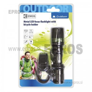 Ročna LED svetilka 3W DRAGON s fokusom in držalom EMOS