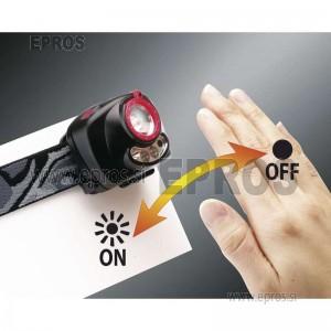 Naglavna 1W LED svetilka z IR senzorjem in fokusom EMOS