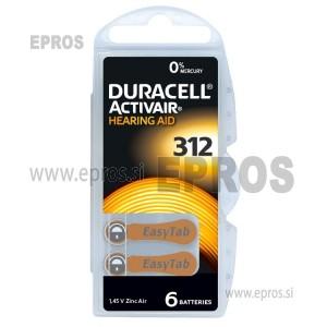 Baterije za slušne aparate Duracell 312