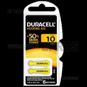 Baterije za slušne aparate Duracell 10