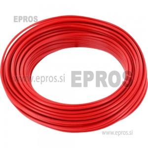 Trda žica HO7V-U 1.5 mm, rdeča