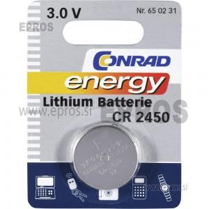 Baterija Conrad energy Lithium Batterie CR 2450