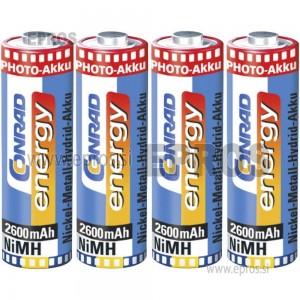 Baterija polnilne Conrad NiMH Akku AA, 2700 mAh