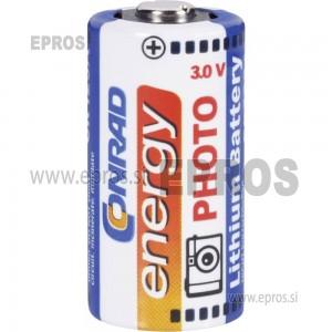 Baterija za fotoaparate Conrad energy Lithium Battery CR 123A