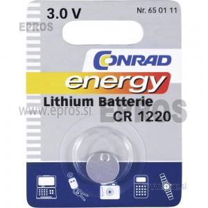 Baterija Conrad Lithium batterie CR 1220