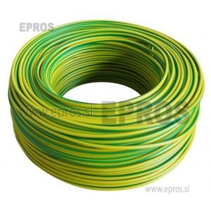 Trda žica HO7V-U 1.5 mm, rumeno-zelena