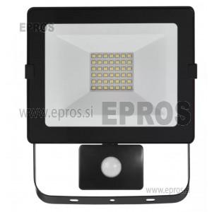 LED reflektor HOBBY SLIM s senzorjem 30W NW
