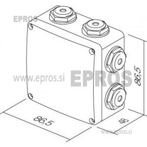 Razvodna doza TEM NDO1 86.5x86.5x48 mm