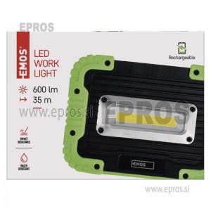 Polnilna LED delovna svetilka 5 W COB, 600 lm, 3000 mAh