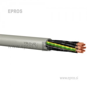 Krmilni kabel YSLY-JZ 5x1.5 mm, sive barve