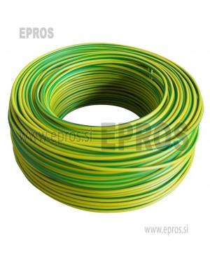 Trda žica HO7V-U 2.5mm, rumeno-zelena