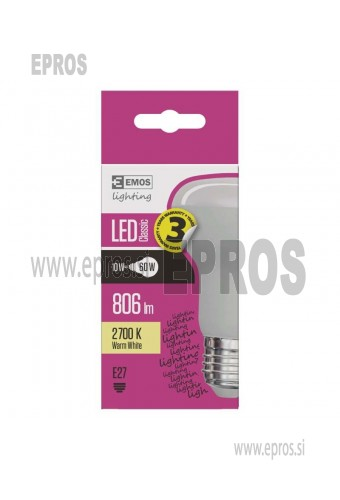 LED žarnica classic R63 10W E27 WW