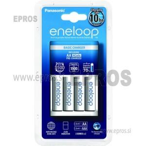 Panasonic polnilnik baterij Eneloop BBQ-CC51E + 4X AA 1900mAh