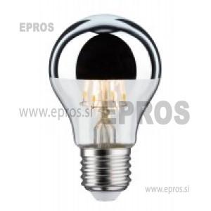 Žarnica LED Paulmann E27 toplo bela 5W ogledalo srebrno, WW