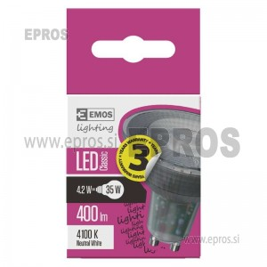 LED žarnica classic MR16 4,2W GU10 NW
