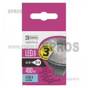 LED žarnica classic MR16 4,5W GU5,3 CW